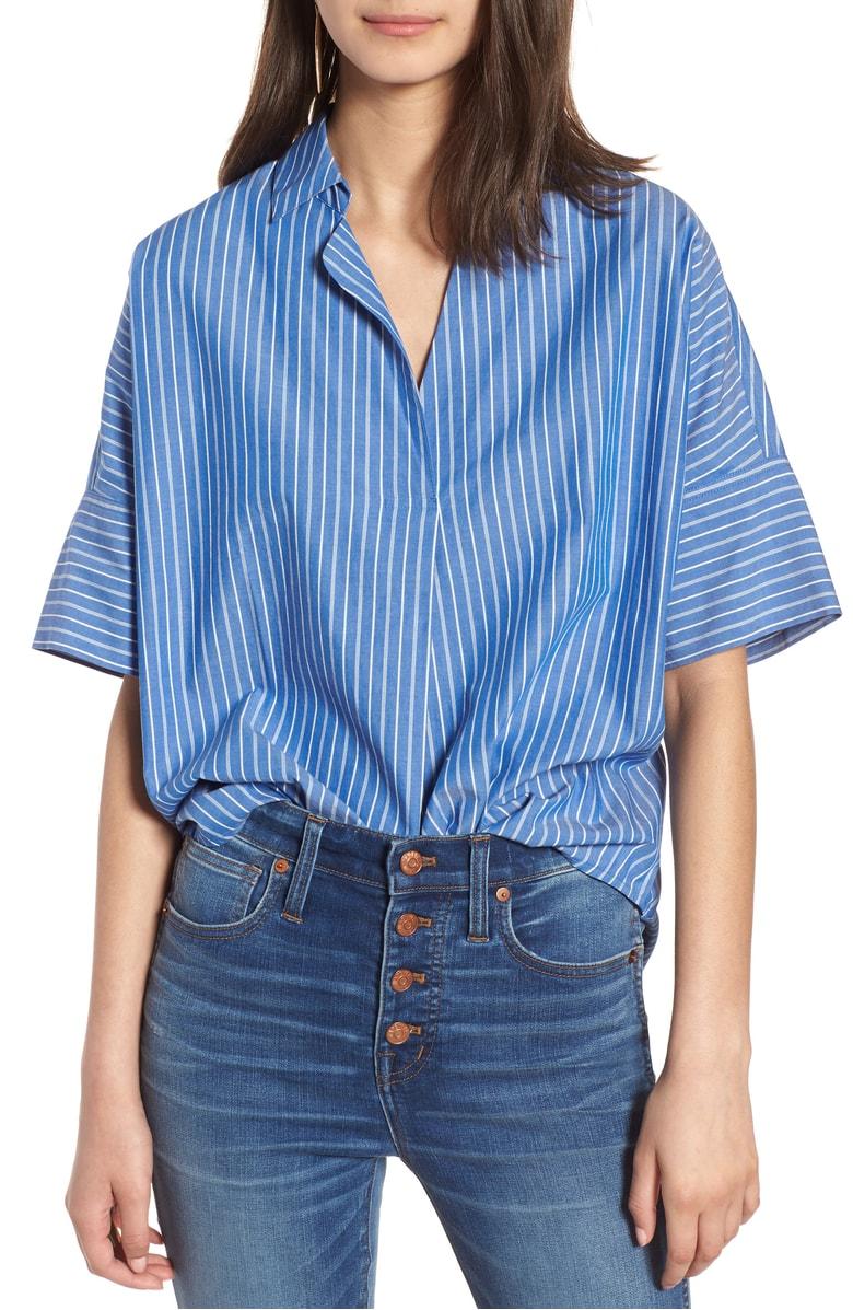 Madewell Courier Stripe Button Back Shirt.jpg