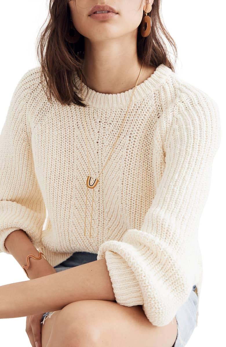 Madewell Balloon Sleeve Pullover Sweater.jpg