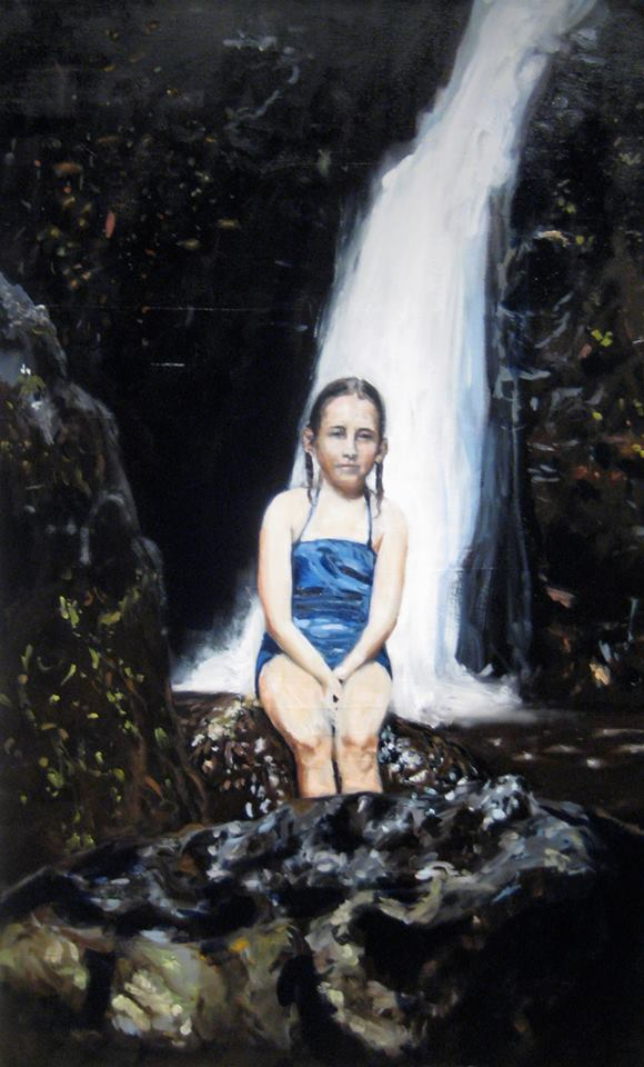 "Waterfall   Oil on canvas 30"" x 48"" 2013"