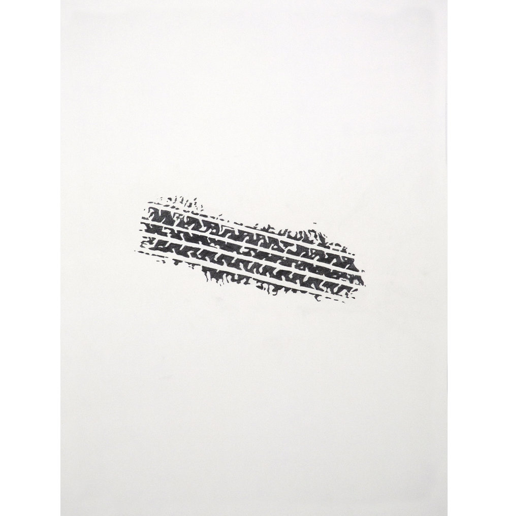 "Lexicon 33, 2013, graphite on paper, 24"" x 18"""