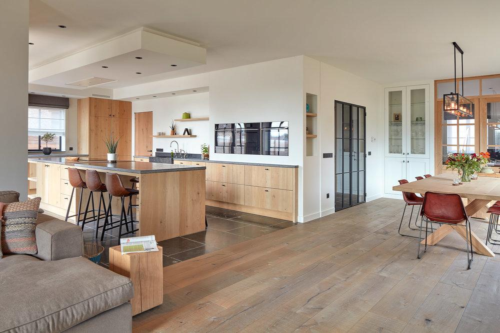 Kalmthout | Interieur fotografie open keuken woonruimte