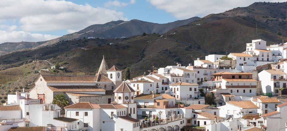 Zicht op het dorp El Borge