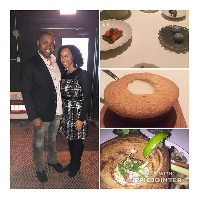 Out celebrating 🥳 my wonderful fiancé's VP promotion. So proud of you! Love you to pieces. Every course was delectable and for me #glutenfree #WellDeserved #youdontknowwhathesbeenthrough #FineDining #Chicago #BlackLove #Mr.VP #oriolechicago
