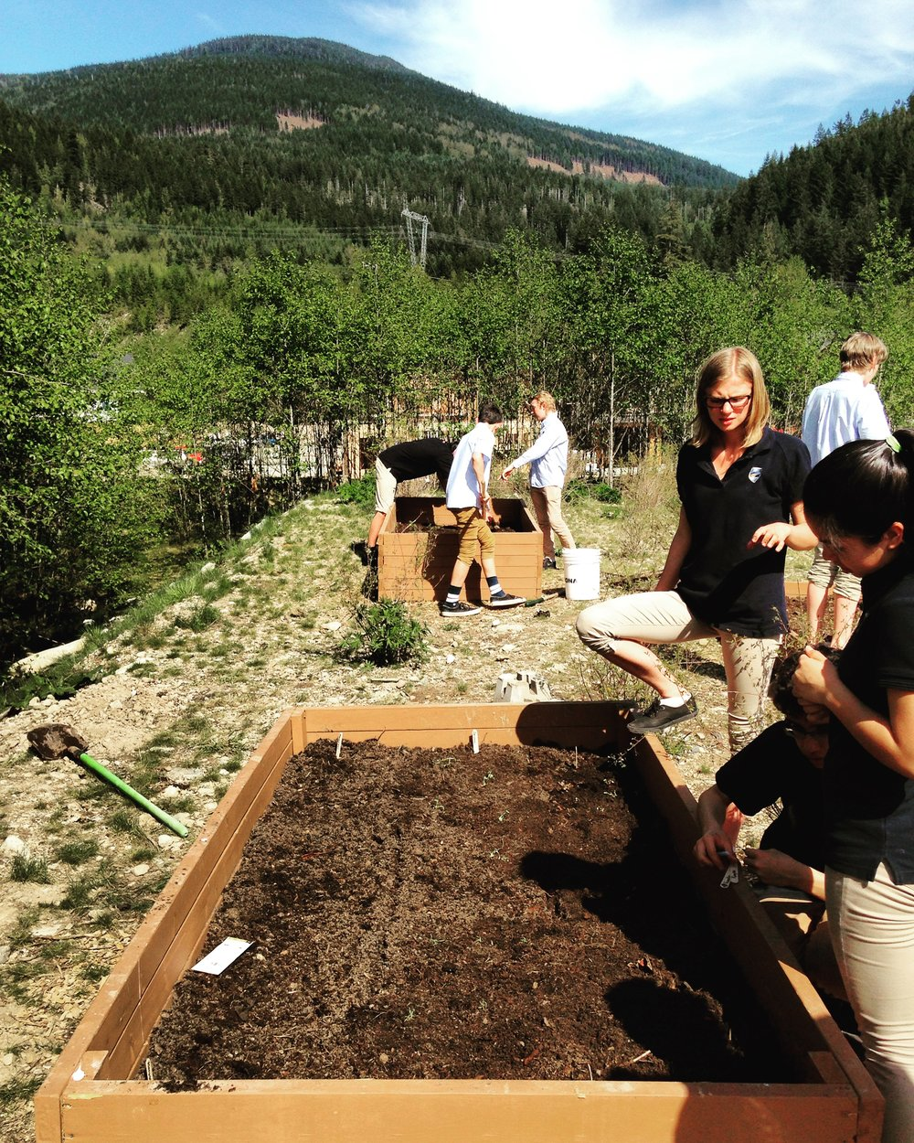School Permaculture class