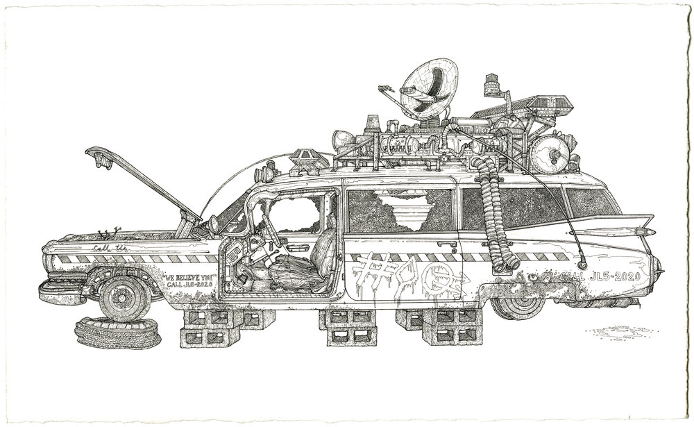 ecto 1, ink on paper, 8.5in. x 14in., 2009