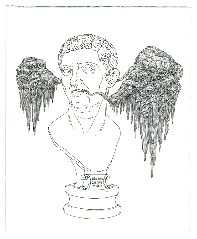 tiberius claudius nero, ink on paper, 8.5in. x 7in., 2009