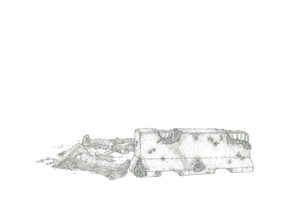 bodies, ink on paper, 27in. x 19in., 2011
