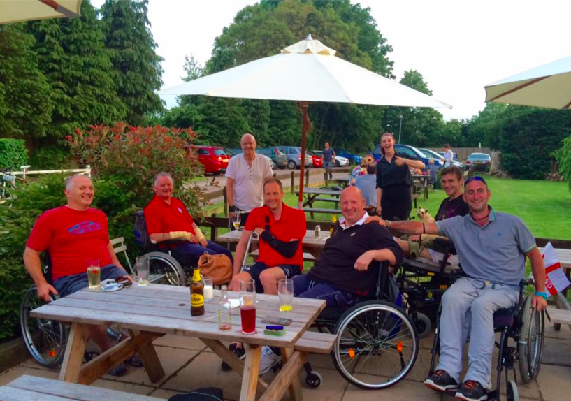 REHAB AT STOKE MANDEVILLE (DAY OUT) WITH THE BOYS, 2016