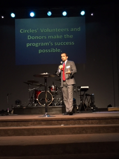 Chairman of the Circles Board Scott Vorhees was on hand to offer the Board's sincere appreciation for all of the volunteer work that has benefitted Circles immeasurably over the past five years.