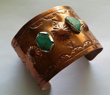 Example of stamped copper bracelet.