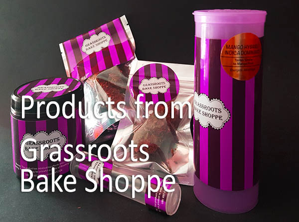 Our Recognized Brand   The Grassroots Bakeshop brand and packaging is always easy to spot and satisfation is 100% guaranteed. Look for our pink-striped Bake Shoppe labels in the grow section of your favorite retailer.  If you are a retailer, be sure to carry the most easily recognized brand and labeling from the Grassroots Bake Shoppe. It has rapidly become a frequently asked-for customer favorite!