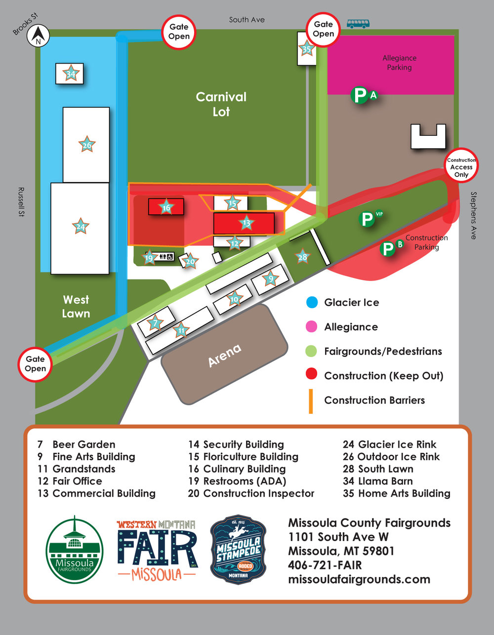 Fairgrounds Access Map, Winter 2019
