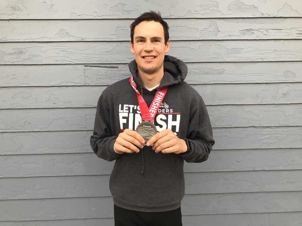 No frail kale-eater, Nate Lotze trained for a marathon on a vegan diet. He did just fine.