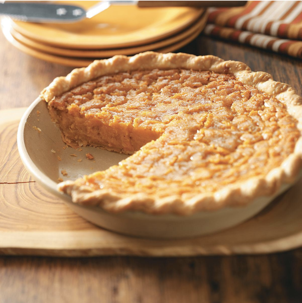 Who needs pumpkin, anyway? This sweet potato pie is naturally sweet so requires less sugar. Photo credit: Nate Lotze.