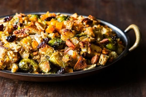 Stuffing that's practically a meal in itself. Photo credit:  Food52 .