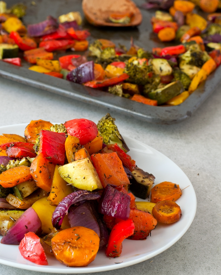 A colorful dish flavored with balsamic vinegar. Photo credit:  Simple Vegan Blog.