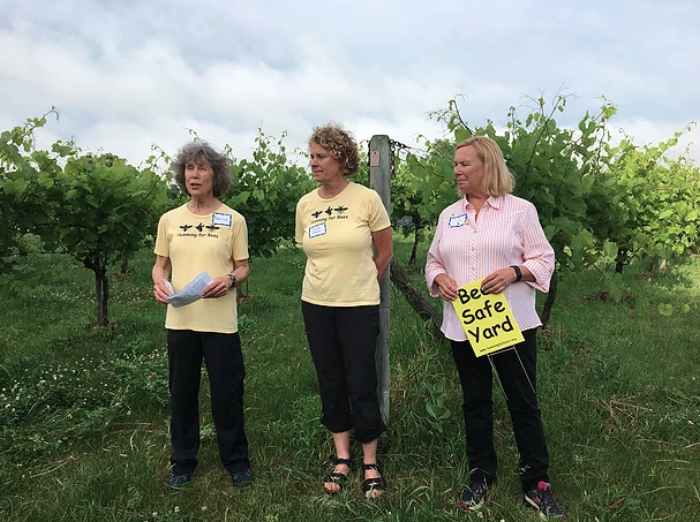 Humming for Bees founder Patricia Hauser and community members in Montevideo, MN. Photo credit:  Keep the Hives Alive