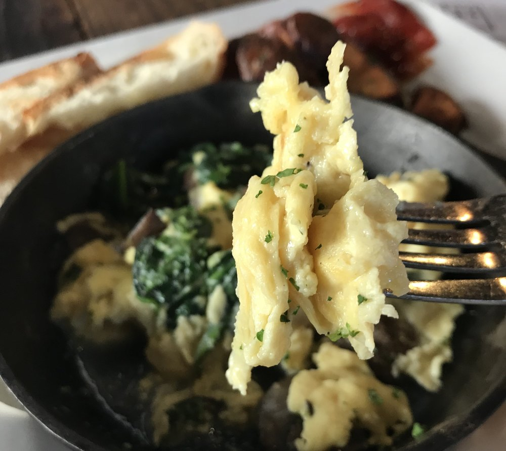 The Just Scramble by Hampton Creek makes a convincing scrambled egg substitute.
