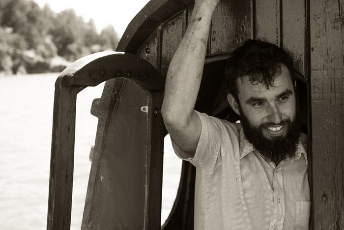Kai Hoffman-Krull on his island farm.
