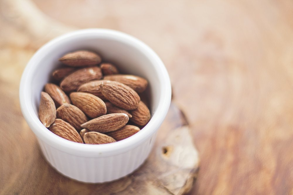 In addition to being a great a source of protein, almonds contain dietary fiber, antioxidants, and essential vitamins.