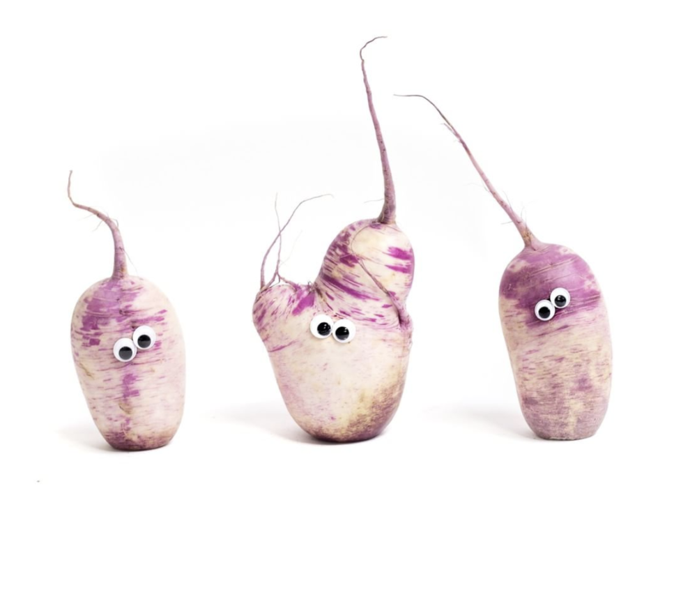 """""""Yes, it's true that your next Imperfect box might contain a small family of wacky-looking root veggies. Last we checked, 'normal' families only exist on TV sitcoms…"""" - note to CSA subscribers of Imperfect Produce"""