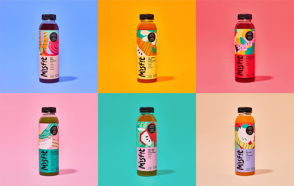 70 to 80 percent of Misfit Juicery juice is made from imperfect produce. Photo and design by  Gander