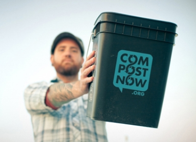 CompostNow delivers a food scrap bin straight to its subscribers' doorsteps. Photo from  CompostNow