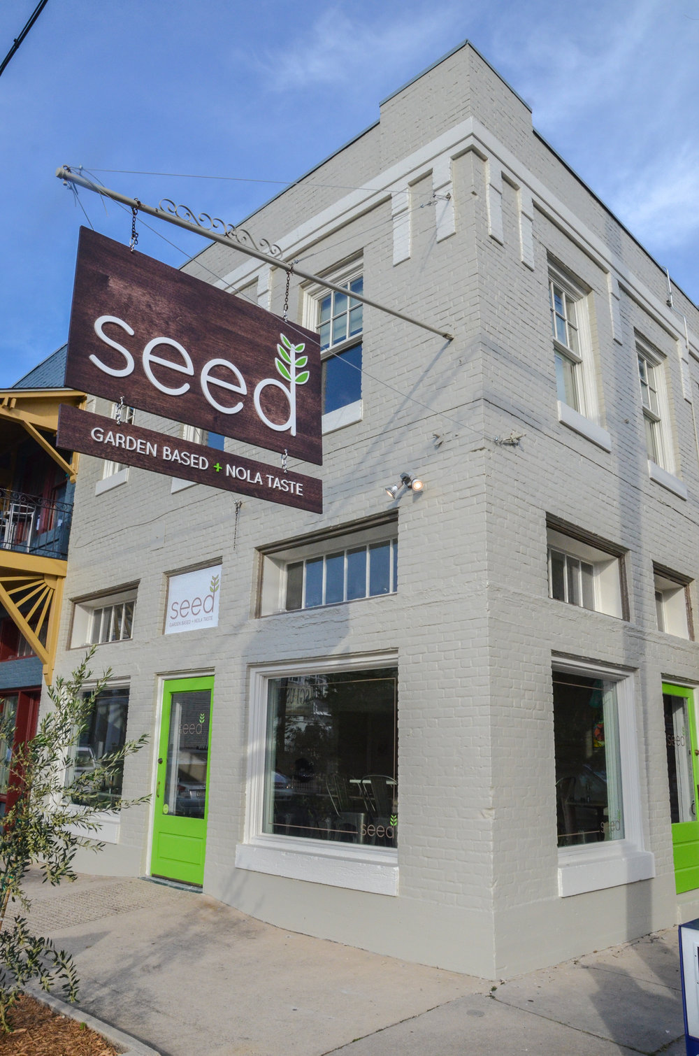 "Seed's slogan: ""Garden Based + Nola Taste."" Photo from  Seed"