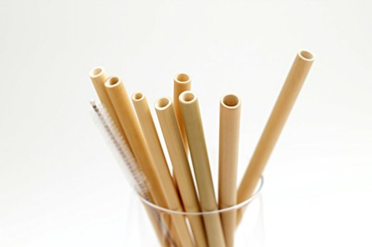 Reusable bamboo straws:  Made from organic bamboo, these  straws are washable, which makes them a reusable option. And when, after a lot of use, your bamboo straw starts to fray - which it will! - you can just compost it.    Recommended Brands:    Buluh ,  Bambu ,  Elemental Home     Photo Credit:  Buluh