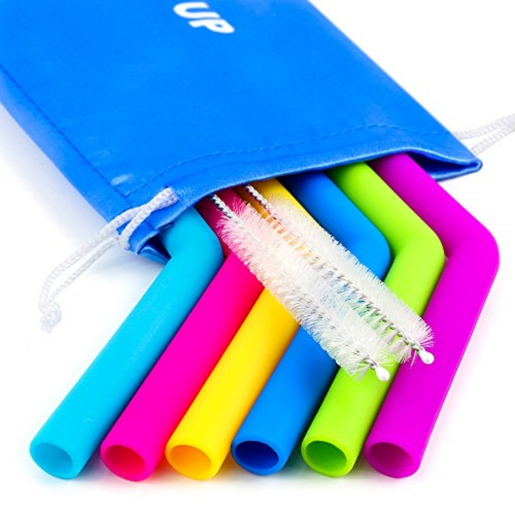 Tough silicone straws:  Food grade silicone is being used to make straws that withstand rough treatment and all temperatures. These colorful, flexible straws are a particularly great option for kids, especially teething toddlers.    Recommended Brands:    GoSili ,  GreenPaxx ,  Softy Straws     Photo Credit:  Heap Home Products