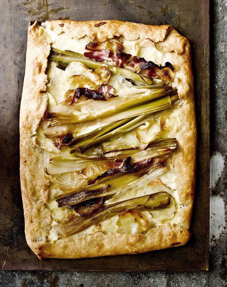 Roasted Leek and White Bean Galettes