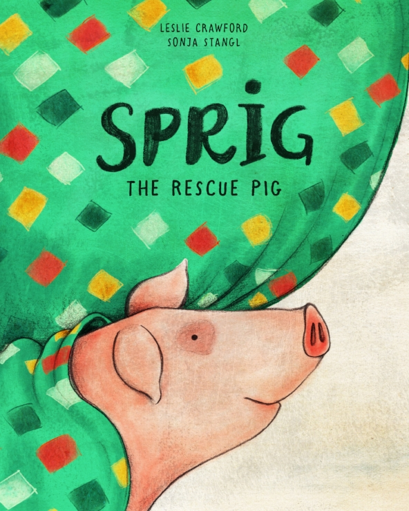 Sprig the Rescue Pig , the highly praised children's book about a pig who finds happiness with a kind girl named Rory on sale on  Amazon ,  Barnes & Noble ,  Chelsea Green ,  Stone Pier Press , and local bookstores. While you're at it check out its companion book,   Gwen The Rescue Hen  , about a wise-cracking chicken who escapes from an egg-laying farm and becomes part of a backyard flock. On sale now at  Amazon ,  Chelsea Green ,  Stone Pier Press , and in your local bookstore.