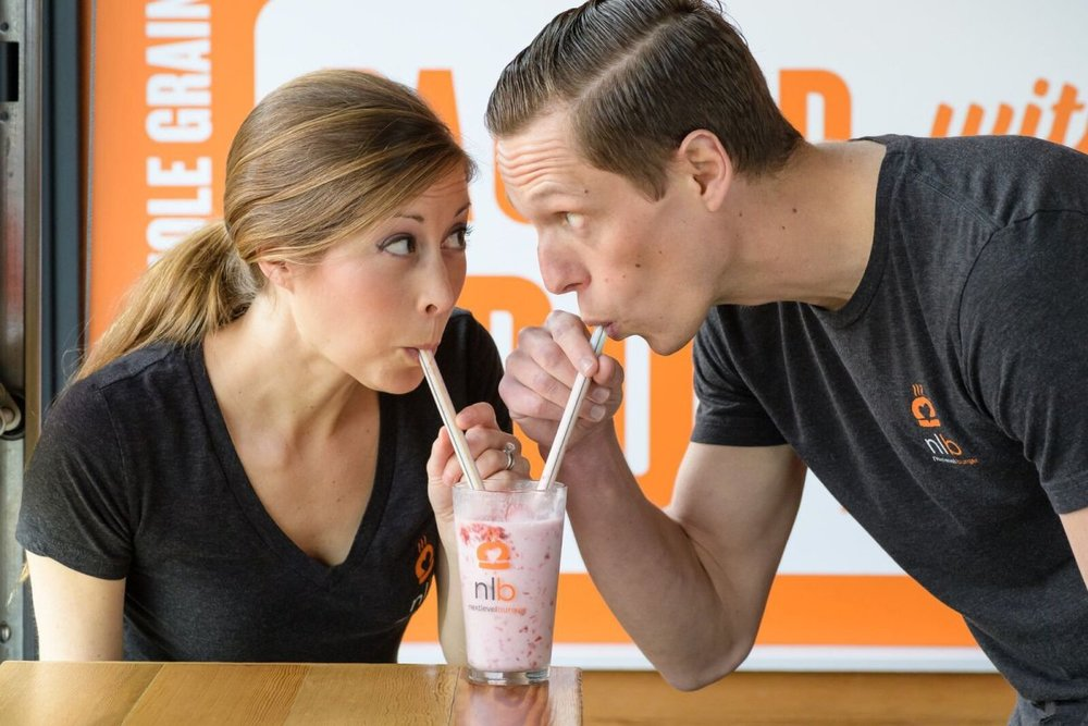 Matt and Cierra DeGruyter are the founders of Next Level Burger, a business with the bold aim of taking over fast food with healthy plant-based offerings.  Photo source