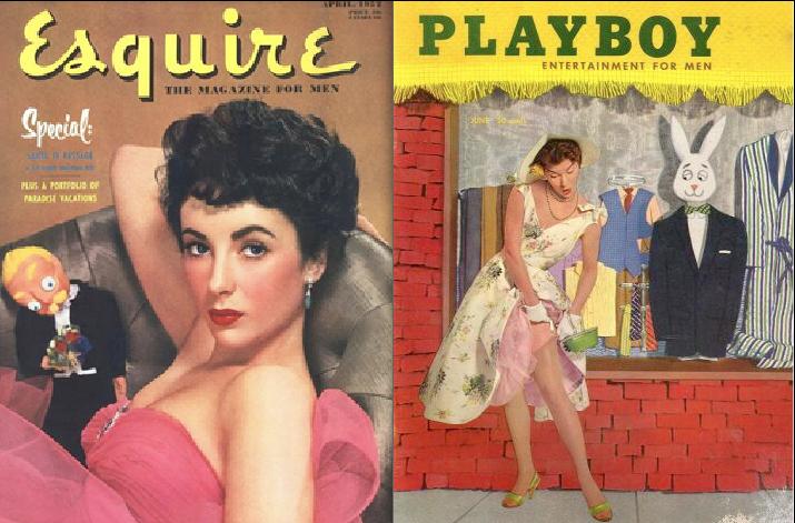 Esquire 1951, Playboy 1955