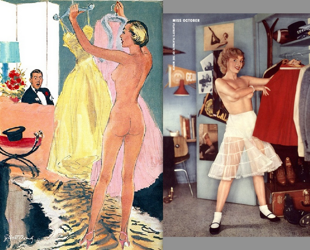 1954 Esquire cartoon; 1955 Playboy centerfold