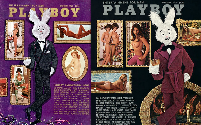 Playboy gallery covers: 1968, 1971
