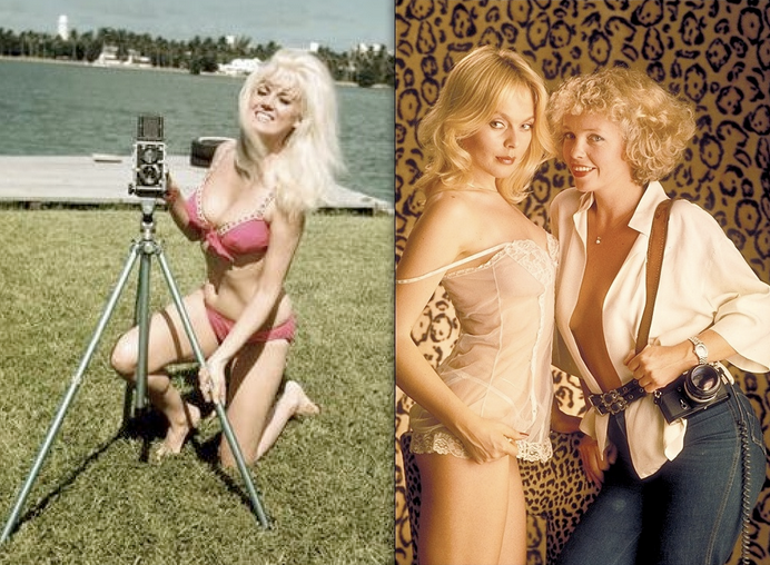 Playboy photographers Bunny Yeager (left, 1968); Suze Randall (right, 1976)