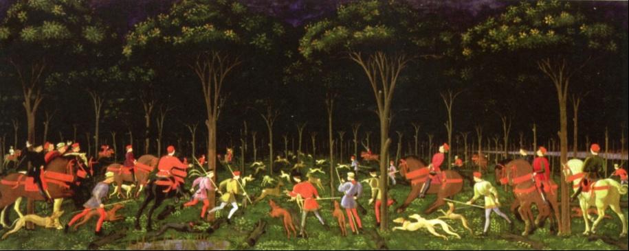 Hunting ritual, Italy 1470 Uccello