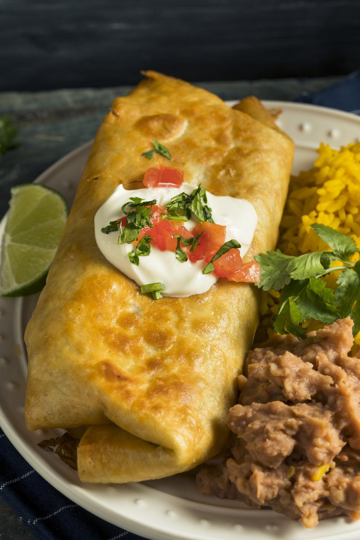 Chimichangas - Mexican Chorizo, Rice & Beans, &4 Cheese (24 pk) -