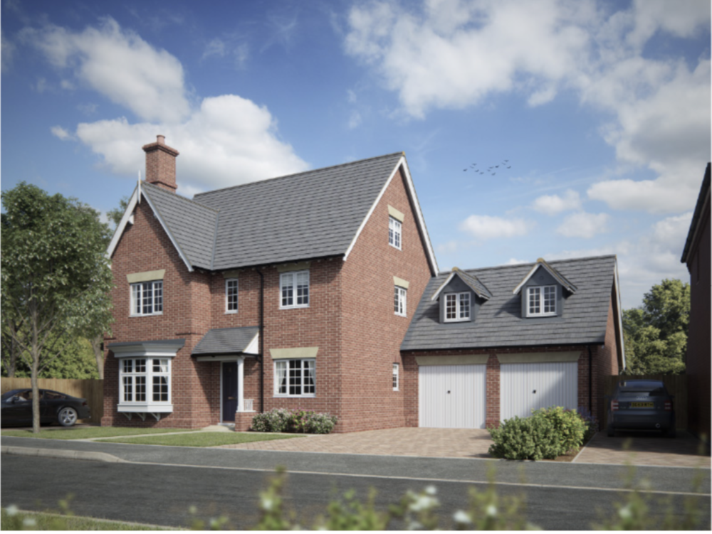 THE DUNSTALL  Five double bedrooms, three en-suites, Separate study and playroom and triple aspect living-dining room.