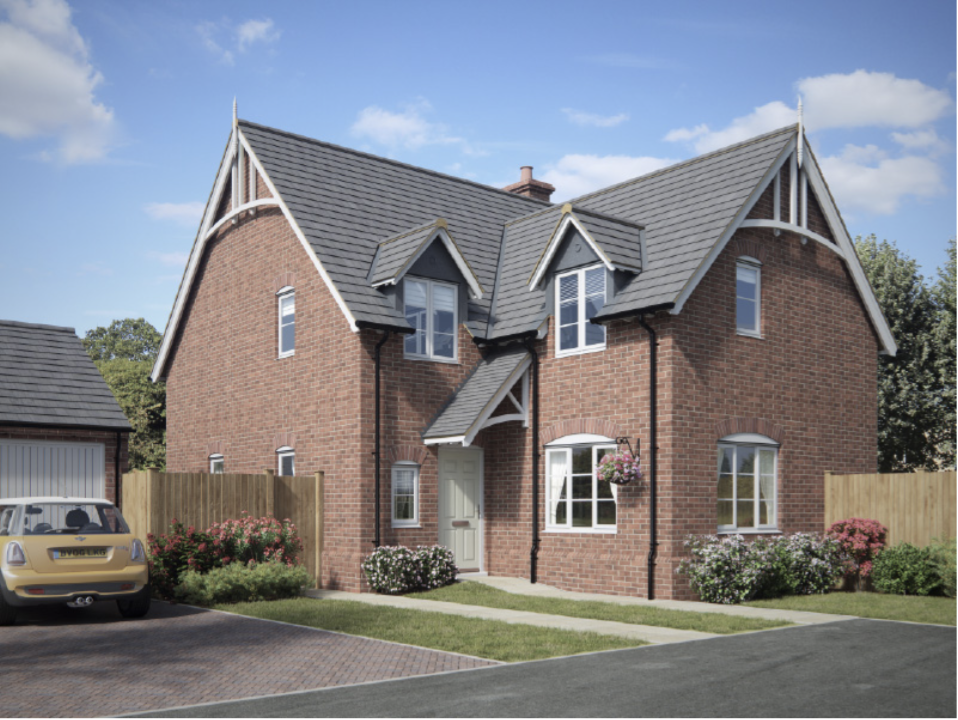 THE STAPLEFORD  Four bedrooms with en-suite and family bathroom. Separate study and living room with versatile kitchen/dining/family room.