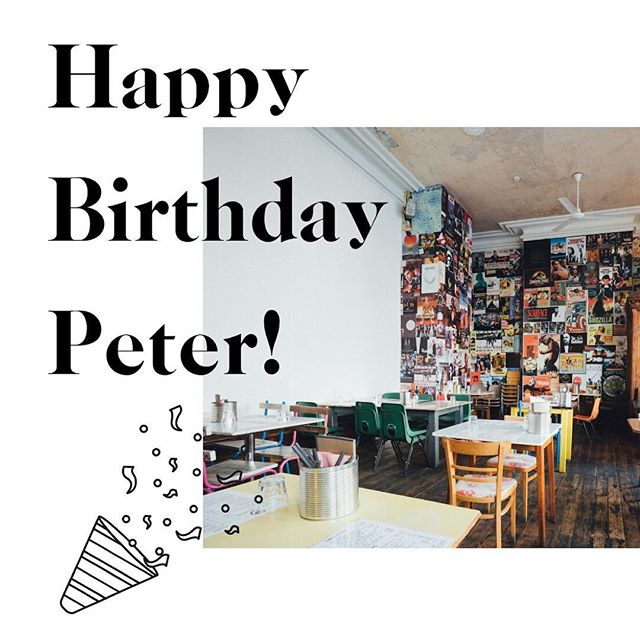 Happy Birthday to our favourite pizza place - @peterpizzeria, who are 4 today! Here's to many more years and slices! 🎂🍕🎉