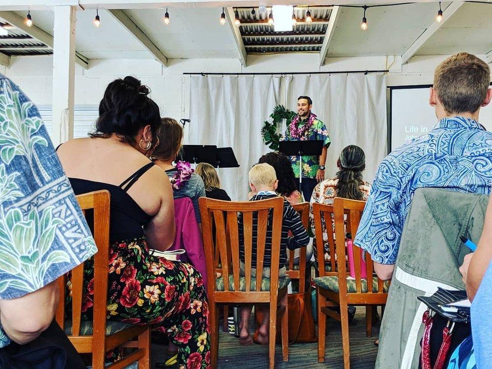 Rocky Preaching Waiehu.JPG