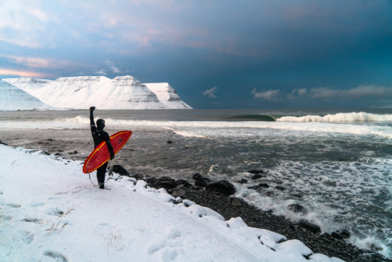 Under An Arctic Sky: A Film by Chris Burkard - Iceland isn't necessarily the place that comes to mind when one thinks of popular surfing destinations, yet it's exactly where Chris Burkard, Ben Weiland, and a group of six surfers head to with hopes of finding perfect surf in freezing conditions.Read More>>