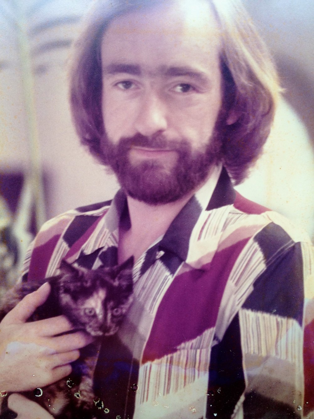 Dave with cat 70's.jpg
