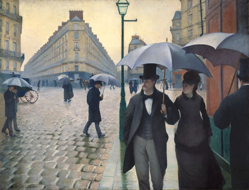 """Paris Street; Rainy Day, 1877,"" by Gustave Caillebotte, Art Institute of Chicago"