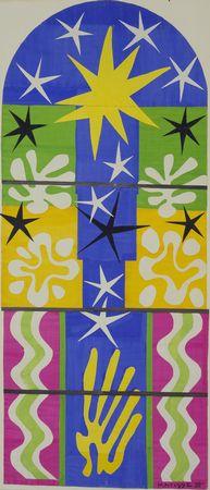 """Maquette for Nuit de Noel,"" by Henri Matisse, 1952, Museum of Modern Art"
