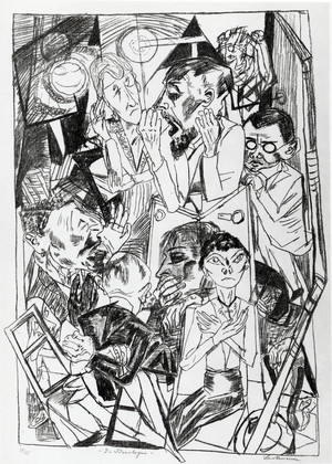 """The Ideologists,"" by Max Beckmann, 1919, Museum of Modern Art"
