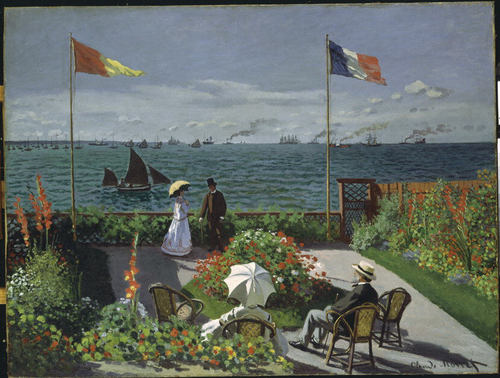 """Garden at Sainte-Adresse,"" 1867, by Claude Monet, Metropolitan Museum of Art"