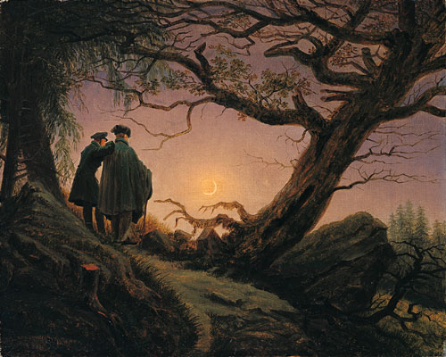 """Two Men Contemplating the Moon,"" Caspar David Friedrich, ca. 1825-30, Metropolitan Museum of Art"
